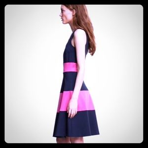 Banana Republic Rugby stripe ponte fit flare dress